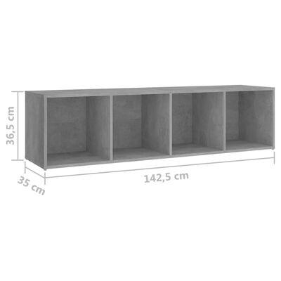 vidaXL Ensemble de meubles TV 3 pcs Gris béton Aggloméré