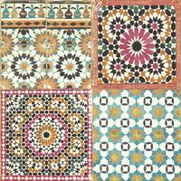 DUTCH WALLCOVERINGS Papier peint Carreaux marocains Multicolore