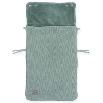 Jollein Sac de confort pour bébés River Knit Vert cendre