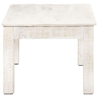 vidaXL Table basse Blanc 110x60x45 cm Bois de manguier massif