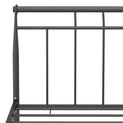 vidaXL Cadre de lit Noir Métal 90x200 cm