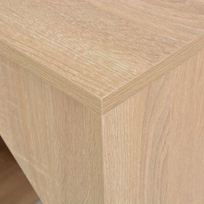 vidaXL Table de bar avec armoire Chêne 115 x 59 x 200 cm