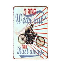 Plaques d'immatriculation vintage en métal - motos et voitures