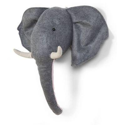 CHILDHOME Décoration murale Tête d'éléphant Feutre Gris CCFELH