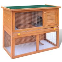 vidaXL Clapier d'extérieur Enclos pour petits animaux 1 porte Bois