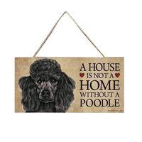 Adorable étiquette pour animal de compagnie rectangulaire en bois -