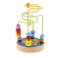 Dessin animé coloré en bois labyrinthe de perles roller coaster