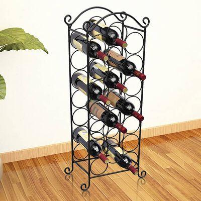 vidaXL Casier à bouteilles pour 21 bouteilles Métal