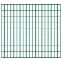 vidaXL Panneaux de clôture de jardin 2D 2,008x1,83 m 6 m total Vert