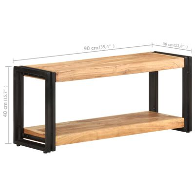 vidaXL Meuble TV 90x30x40 cm Bois d'acacia solide