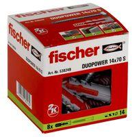 Fischer Ensemble de chevilles avec vis DUOPOWER 14x70 S 8 pcs