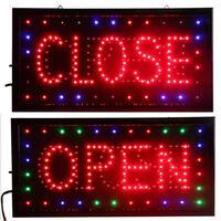 Ouvert et fermé 2 en 1 led enseigne magasin entreprise publicité