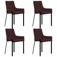 vidaXL Chaises de salle à manger 4 pcs Bordeaux Tissu