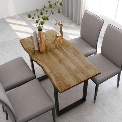 vidaXL Table de salle à manger 118x58x76 cm Bois d'acacia solide