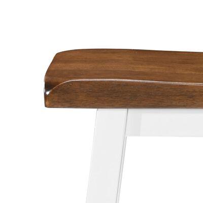 vidaXL Table et tabouret de bar 5 pcs Bois massif