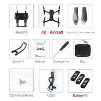 Drone aérien professionnel rc 4k hd - quadcopter fpv gps wifi, jouet