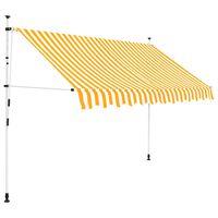 vidaXL Auvent rétractable manuel 250 cm Rayures oranges et blanches