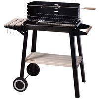 ProGarden Barbecue au charbon 86,5 cm Noir