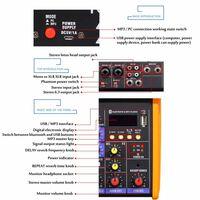 Mini table de mixage audio portable avec console de mixage de son usb