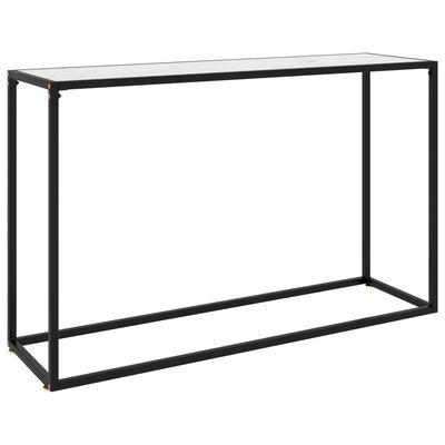 vidaXL Table console Blanc 120x35x75 cm Verre trempé