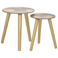vidaXL Tables gigognes latérales 2 pcs Doré  40 x 45 cm/30 x 40 cm MDF