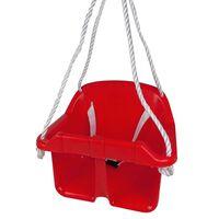 Happy People Siège de balançoire bébé avec ceinture de sécurité Rouge