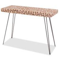 vidaXL Table console Bois de sapin véritable 100,5 x 36,8 x 75 cm