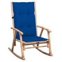 vidaXL Chaise à bascule avec coussin Bambou