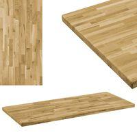 vidaXL Dessus de table Bois de chêne Rectangulaire 44 mm 100x60 cm