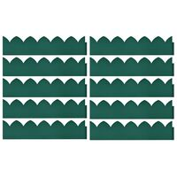 vidaXL Bordures de jardin 10 pcs Vert 65x15 cm PP