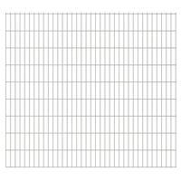 vidaXL Panneaux de clôture de jardin 2D 2,008x1,83m 44 m total Argenté
