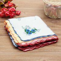 Mouchoirs femme vintage à fleurs - serviettes quadrate mouchoirs