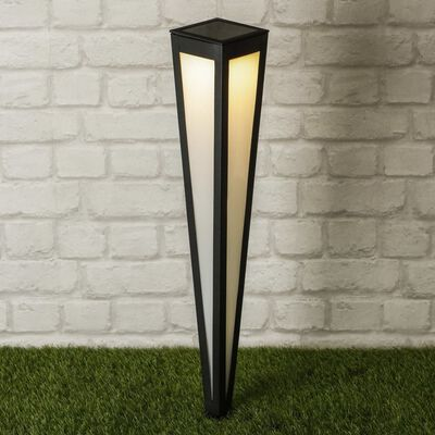 HI Lampe sur piquet solaire à LED de jardin 75 cm Noir