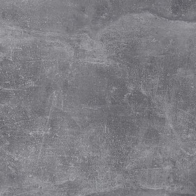 FMD Étagère murale avec 4 compartiments Béton et blanc