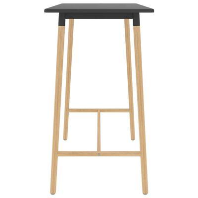 vidaXL Table de bar Gris 120x60x105 cm MDF et bois de hêtre massif