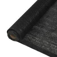 vidaXL Filet brise-vue PEHD 2 x 50 m Noir