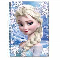 Frozen, Cahier quadrillé A4, 80 feuilles - Elsa