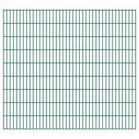 vidaXL Panneaux de clôture de jardin 2D 2,008x1,83 m 8 m total Vert