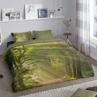 Good Morning Housse de couette WOODS 240x200/220 cm Vert