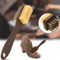 Brosse de nettoyage pour chaussures à 2 faces - gomme à effacer en