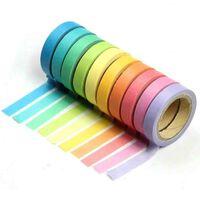10 Bandes Washi, Rouleaux de Papier Colors, Dcoration, Bricolage,