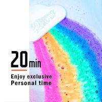 Boule de savon arc-en-ciel de sel de bain - soins de la peau faits à