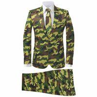 vidaXL Costume 2-pièces avec cravate pour hommes Camouflage Taille 46