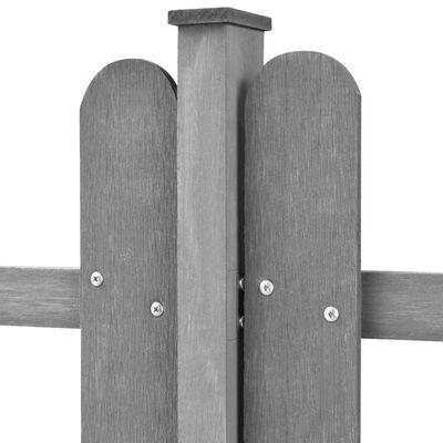 vidaXL Clôture à piquets avec poteaux 3 pcs WPC 600x100 cm