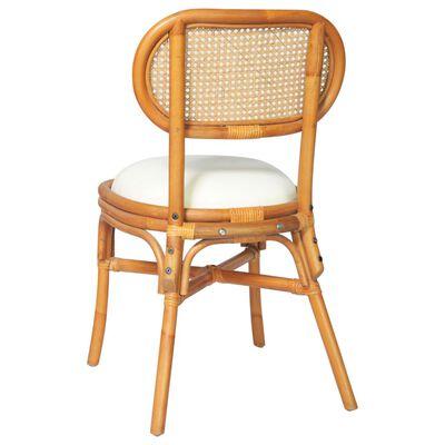 vidaXL Chaises de salle à manger 4 pcs Marron clair Lin