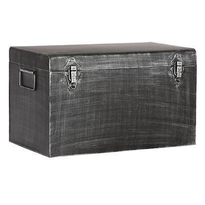 LABEL51 Boîte de rangement Vintage 50x30x30 cm L Noir antique