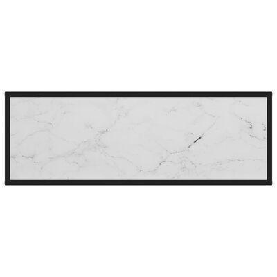 vidaXL Table console Blanc 100x35x75 cm Verre trempé