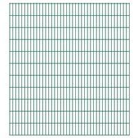 vidaXL Panneaux de clôture de jardin 2D 2,008x2,23 m 22 m total Vert