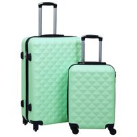 vidaXL Ensemble de valises rigides 2 pcs Menthe ABS
