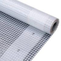 vidaXL Bâche Leno 260 g/m² 4 x 5 m Blanc